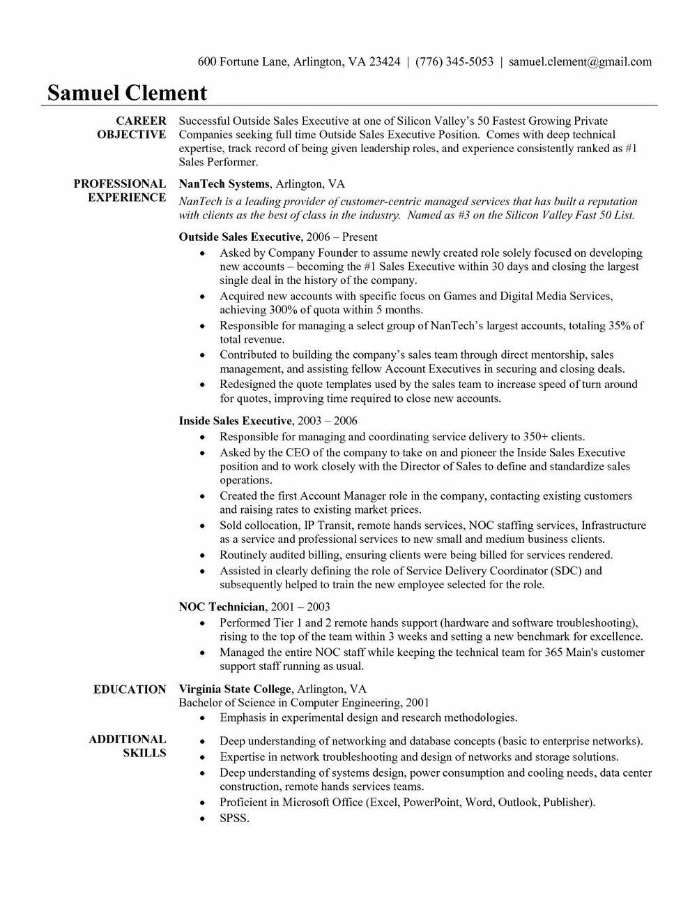 Best Executive Resume Samples