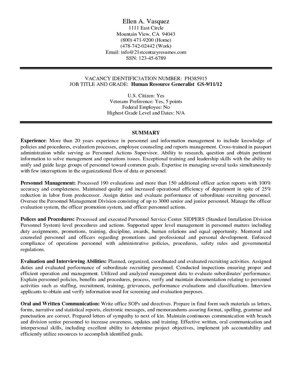 Federal Government Resume Builder