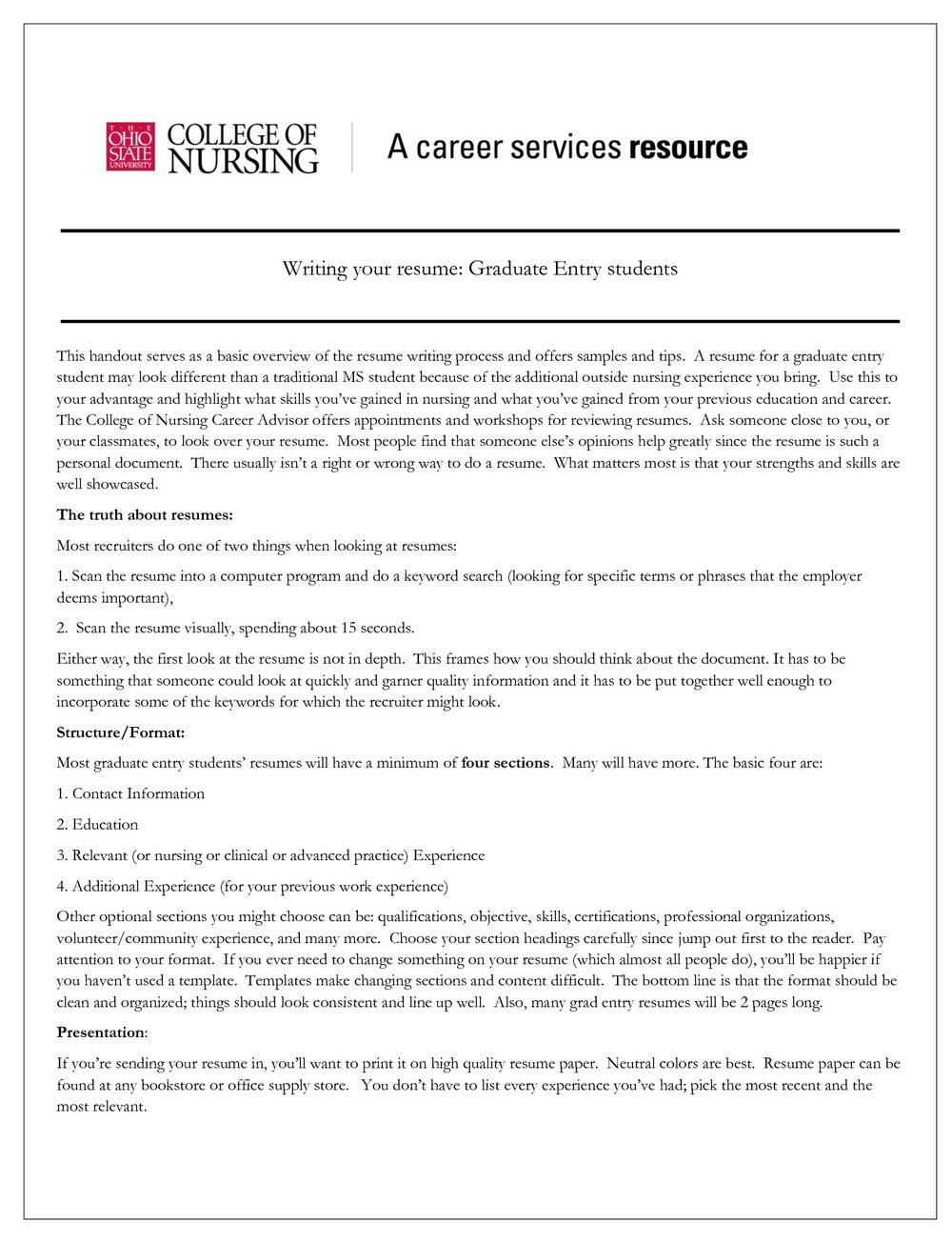 Free Nurse Resume Template Downloads