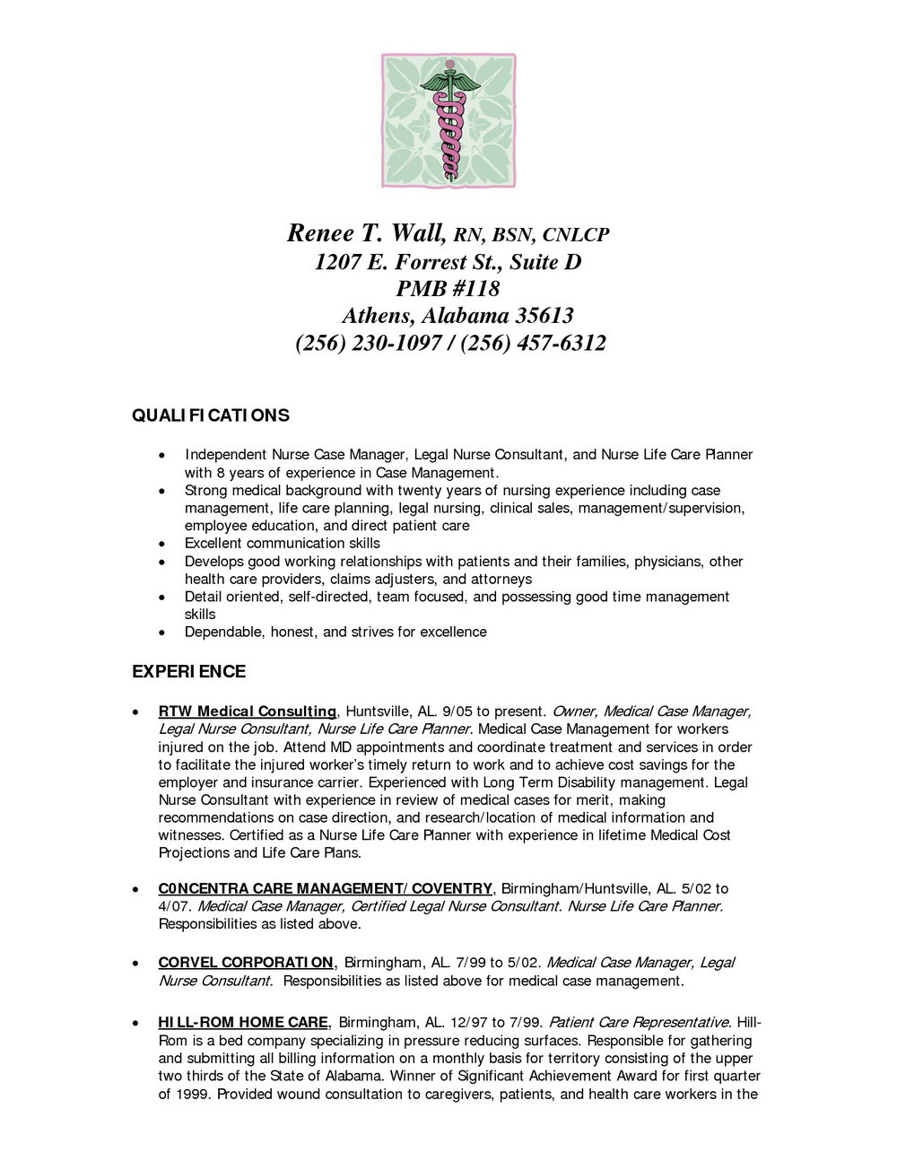 Free Nursing Resume Templates For Word