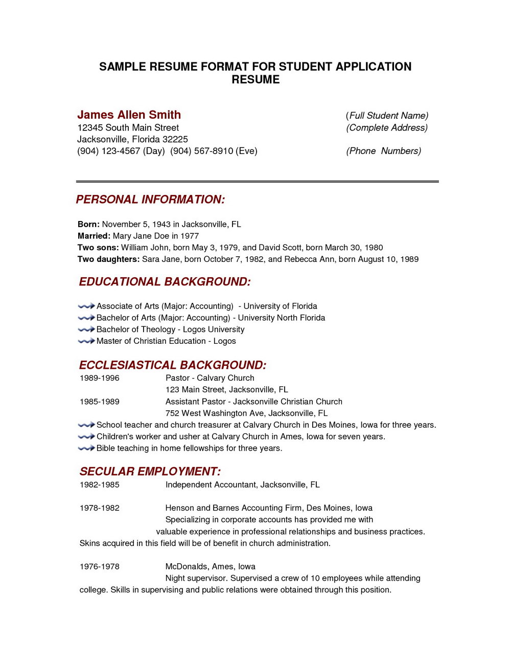 Free Printable Resume Builder Templates