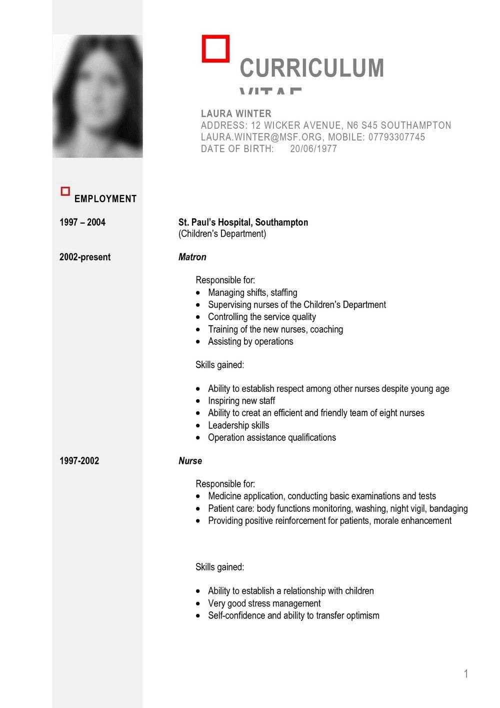 Free Printable Resume Templates Microsoft Word | Template Idea W