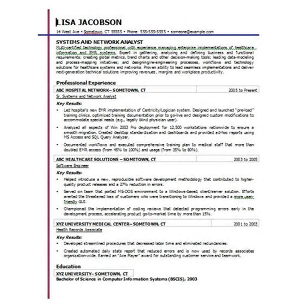 Free Professional Resume Templates Microsoft Word 2010