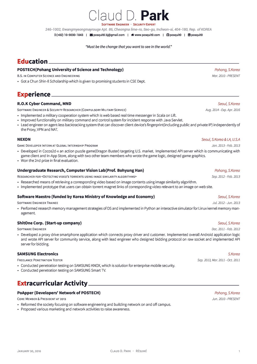 Resume In Latex Github Posquit0awesome Cv Awesome Cv Is Latex Th