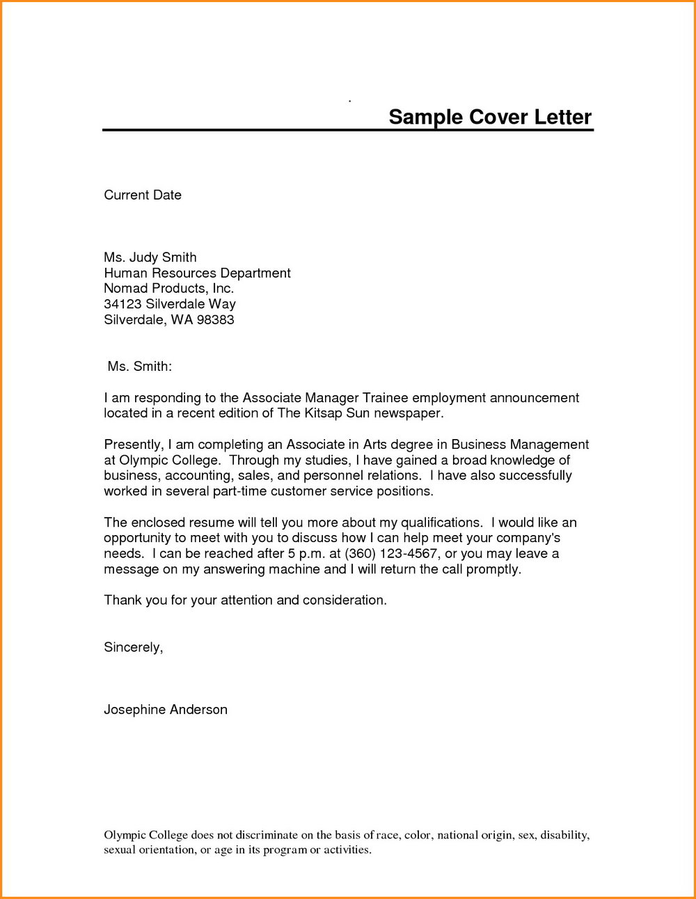 Free Resume Cover Letter Template Word