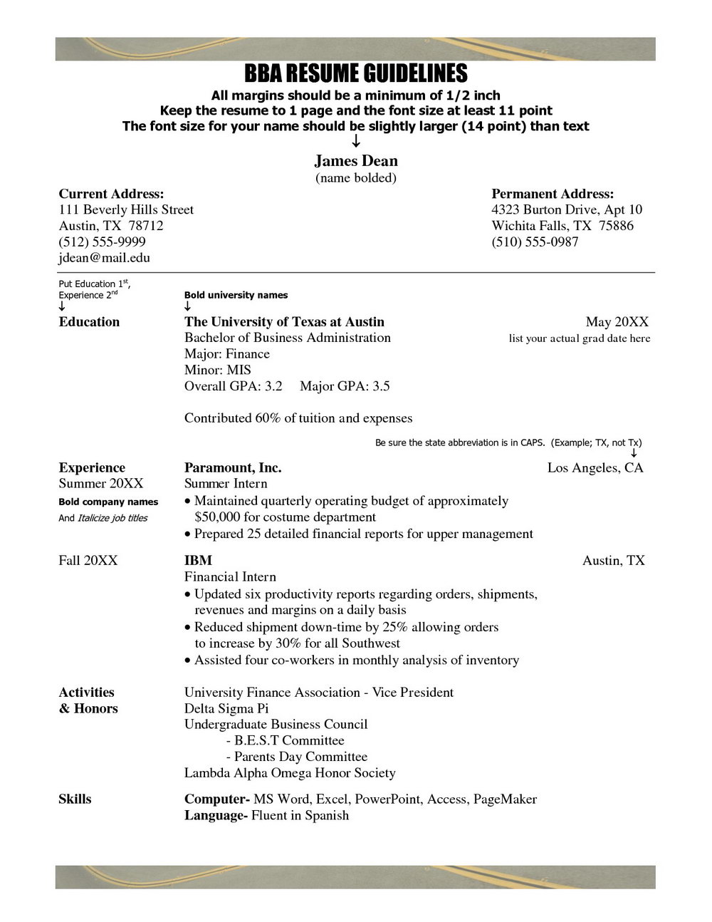 Free Resume Templates To Print