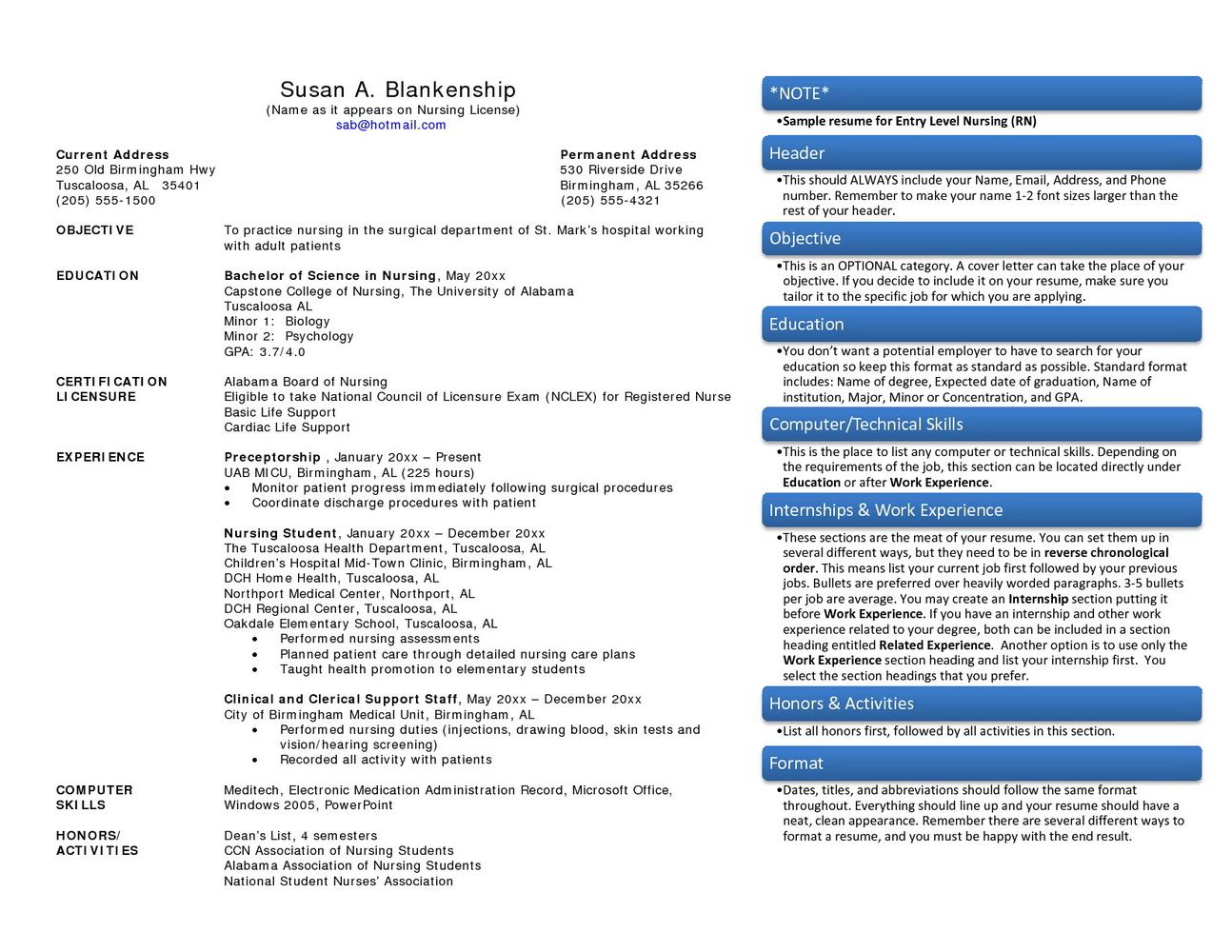 Free Rn Resume Samples