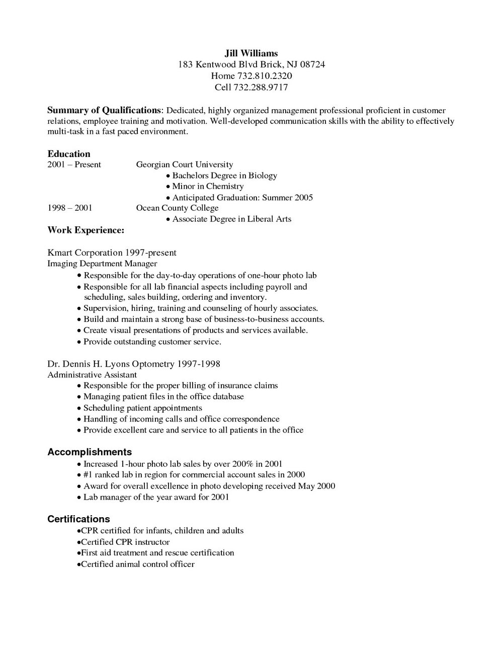 Medical Billing And Coding Resume Samples