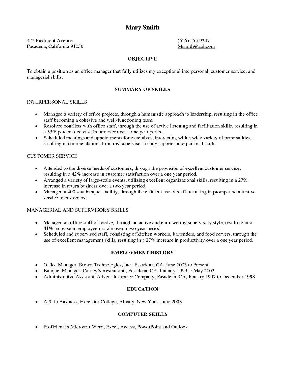 Military To Civilian Resume Sample