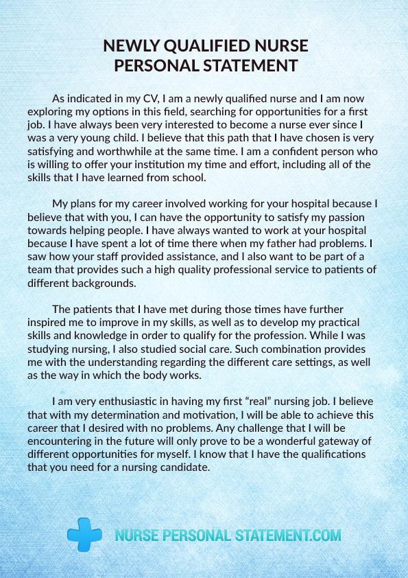 Nursing Job Application Personal Statement Examples