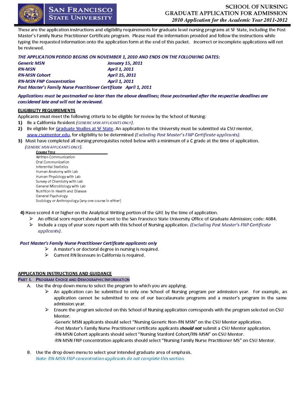 Nursing Job Application Personal Statement