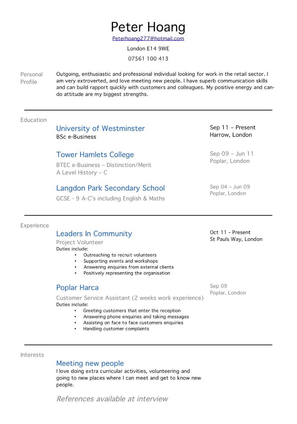 Resume For Cna With Experience