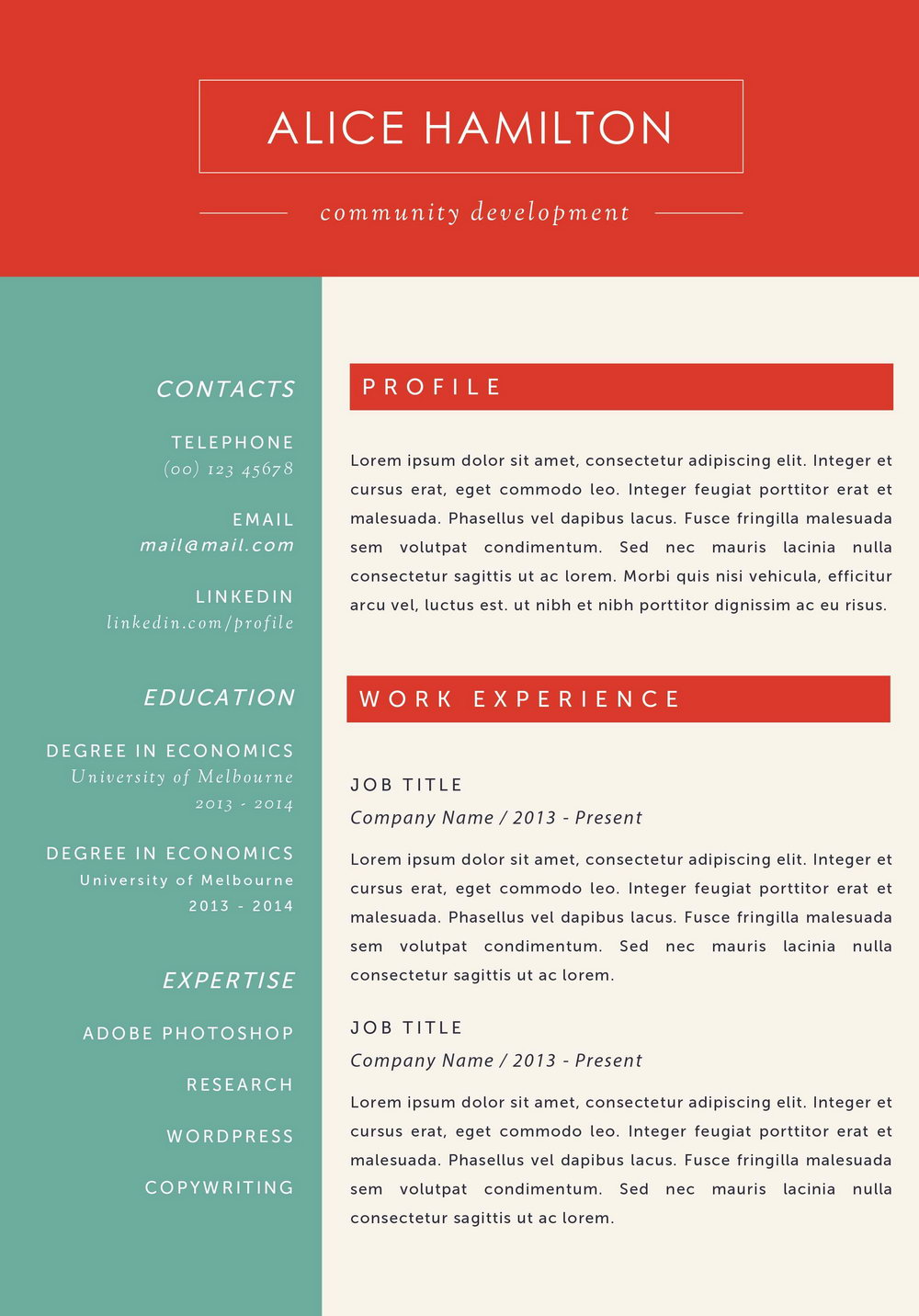 Resume Templates For Mac Textedit