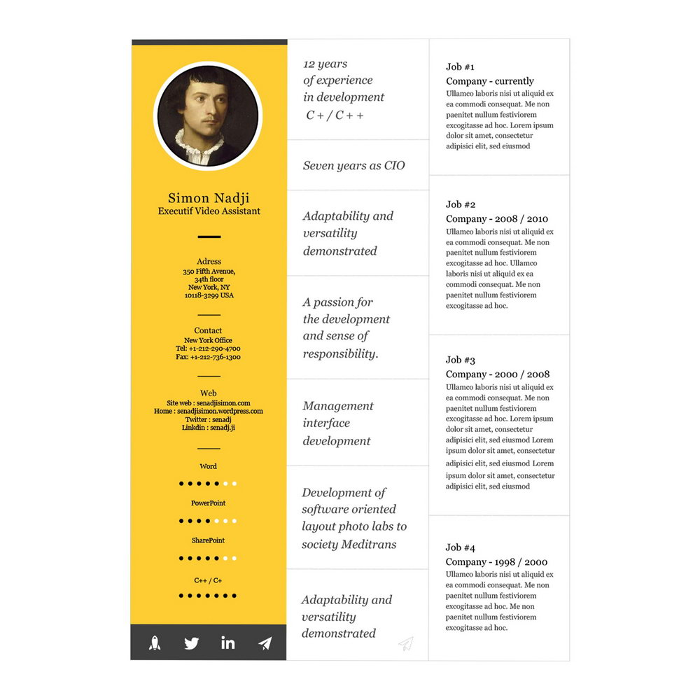Resume Templates For Macbook