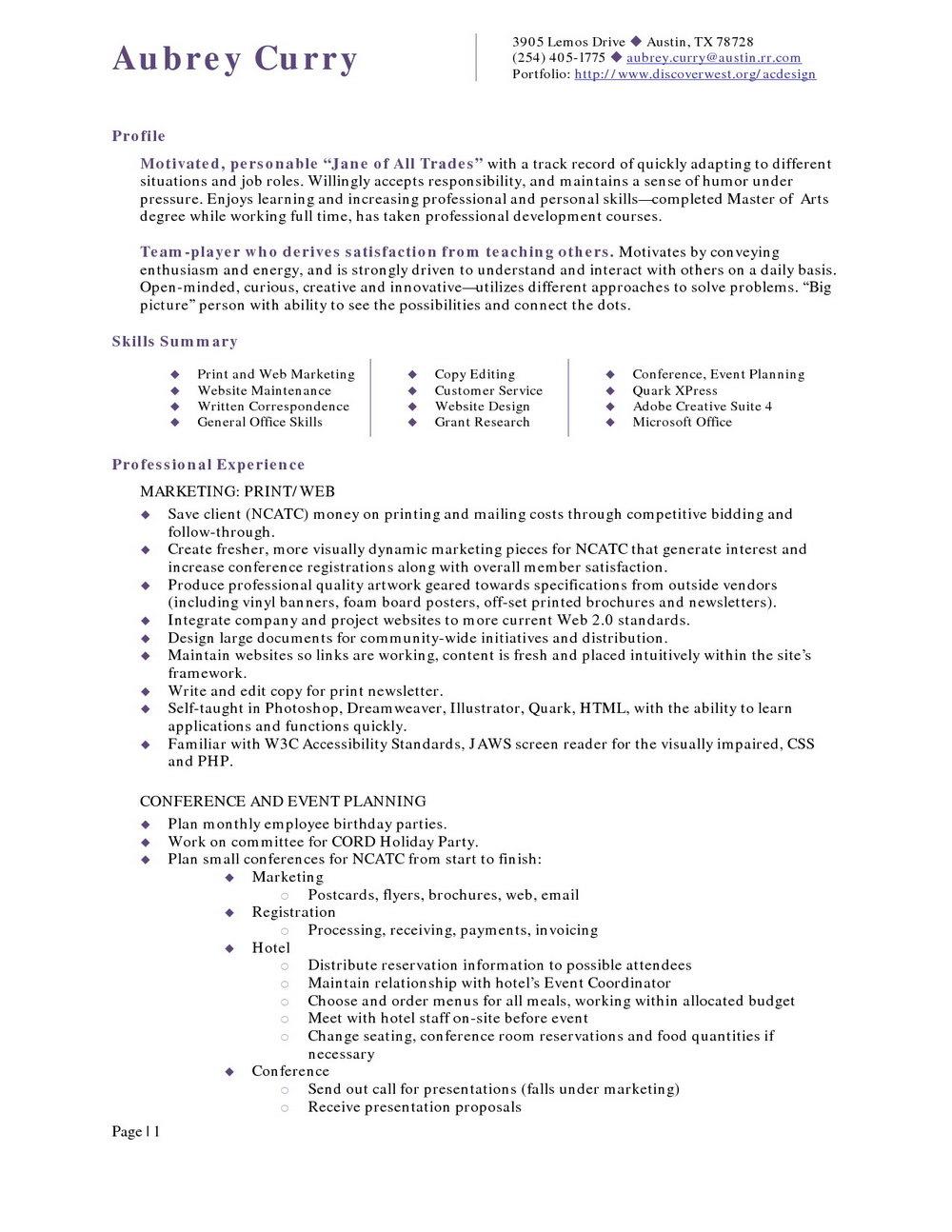 Sample Resume For Hotel Management Fresher