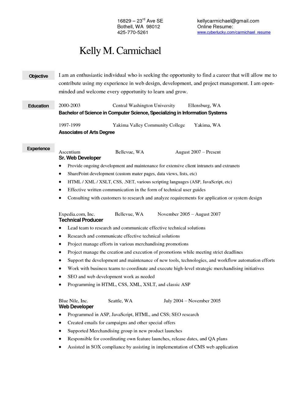 Sample Resume For Retail Merchandiser