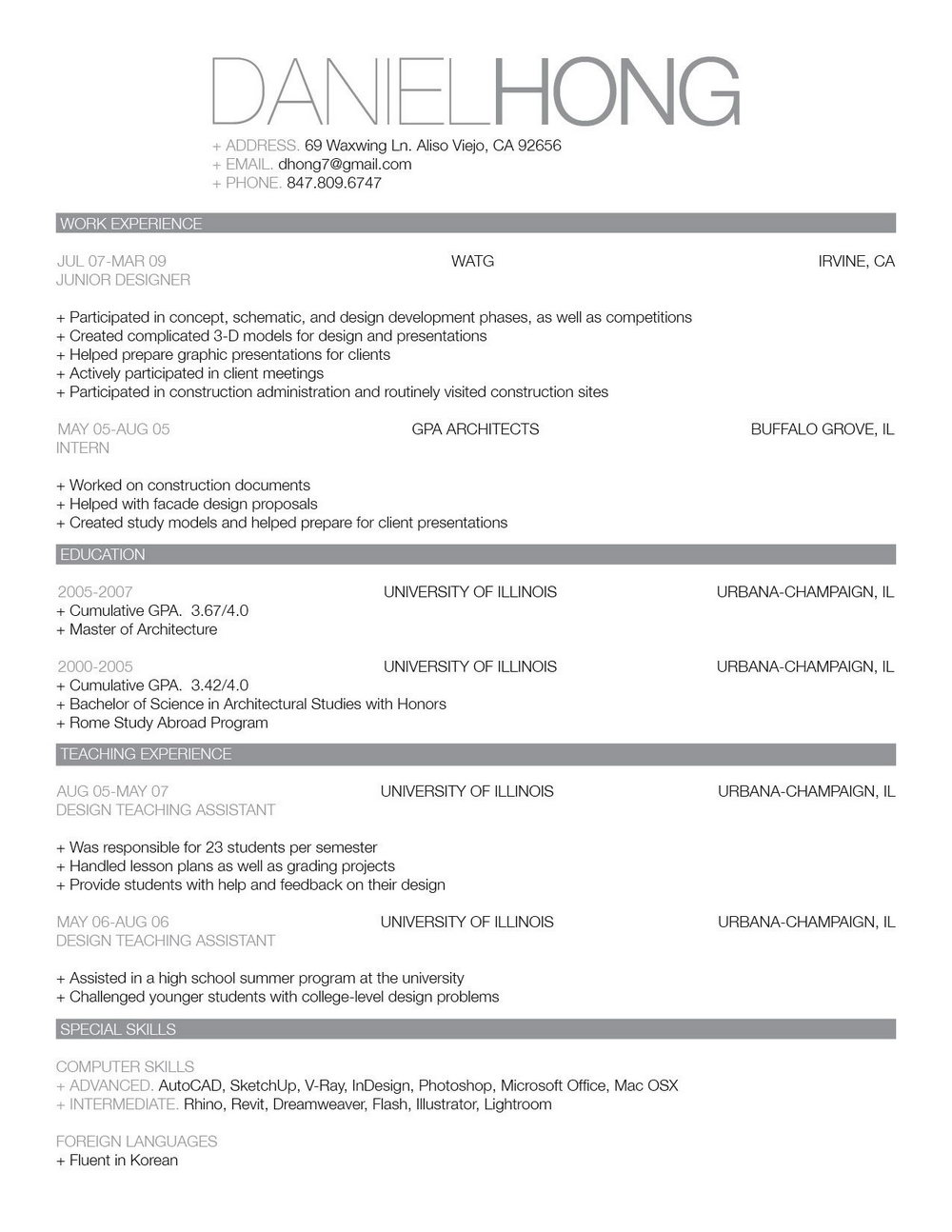 Simple Resume Templates For Word