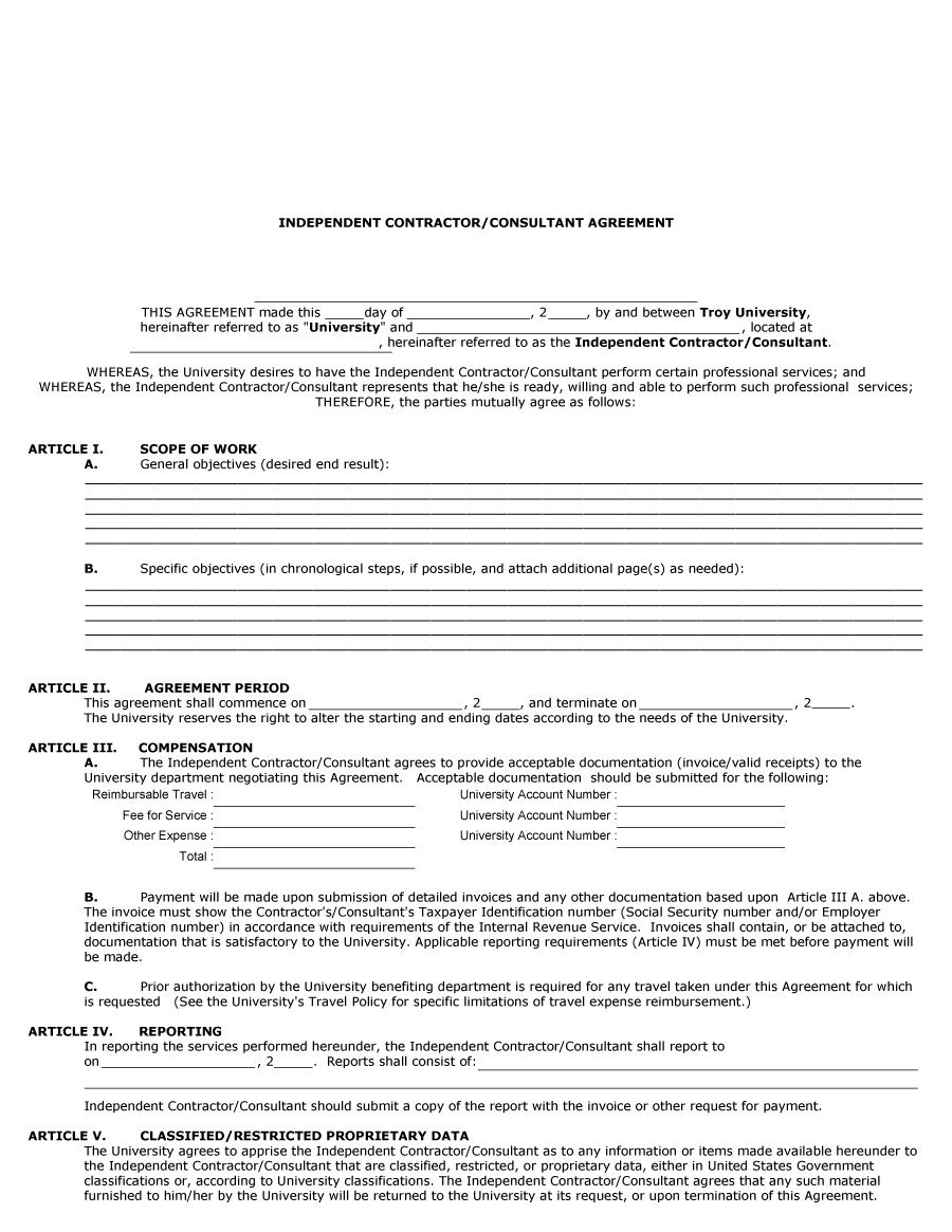 1099 Form Independent Contractor Pdf