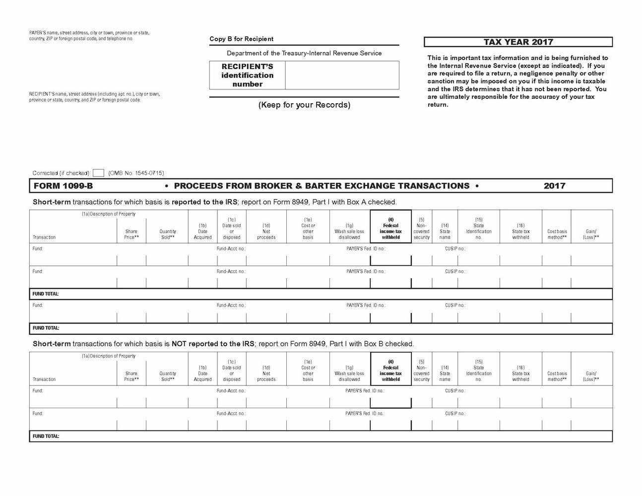 1099 Int Form From Irs