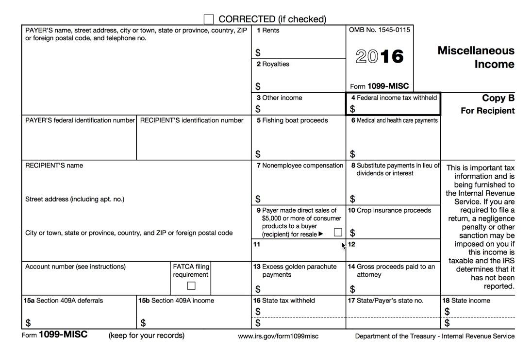 1099 Printable Form