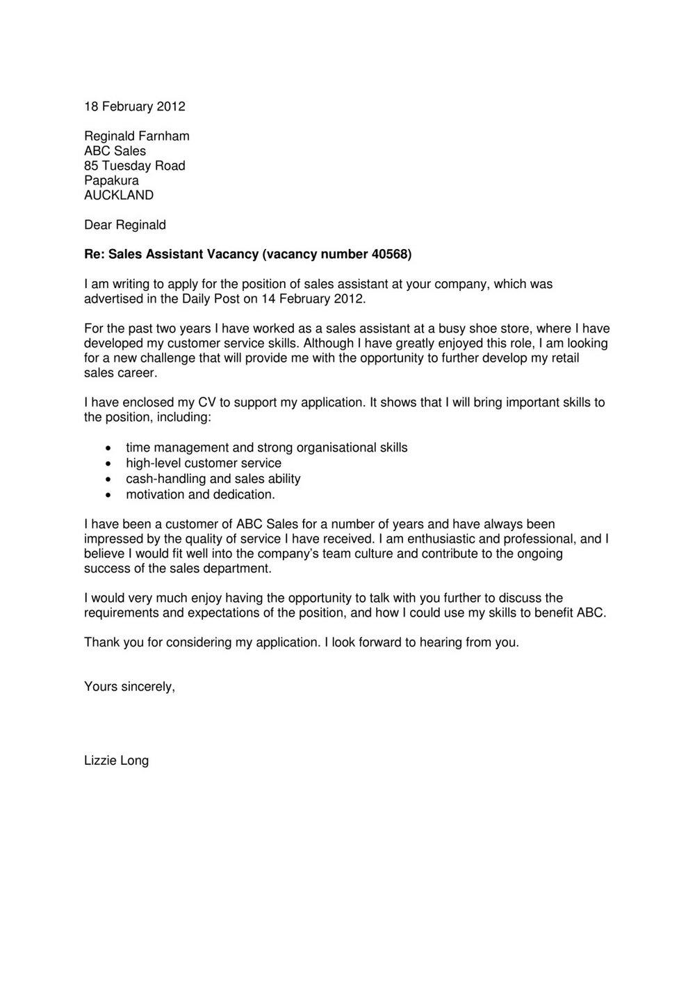 Apostille Cover Letter Sample