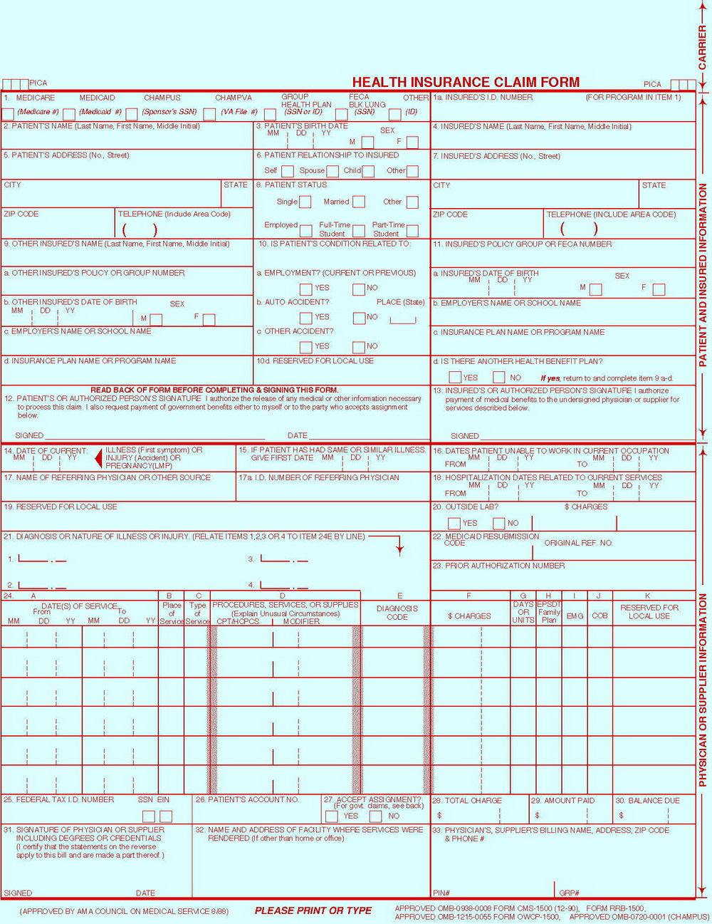 Cms 1500 Forms Office Depot