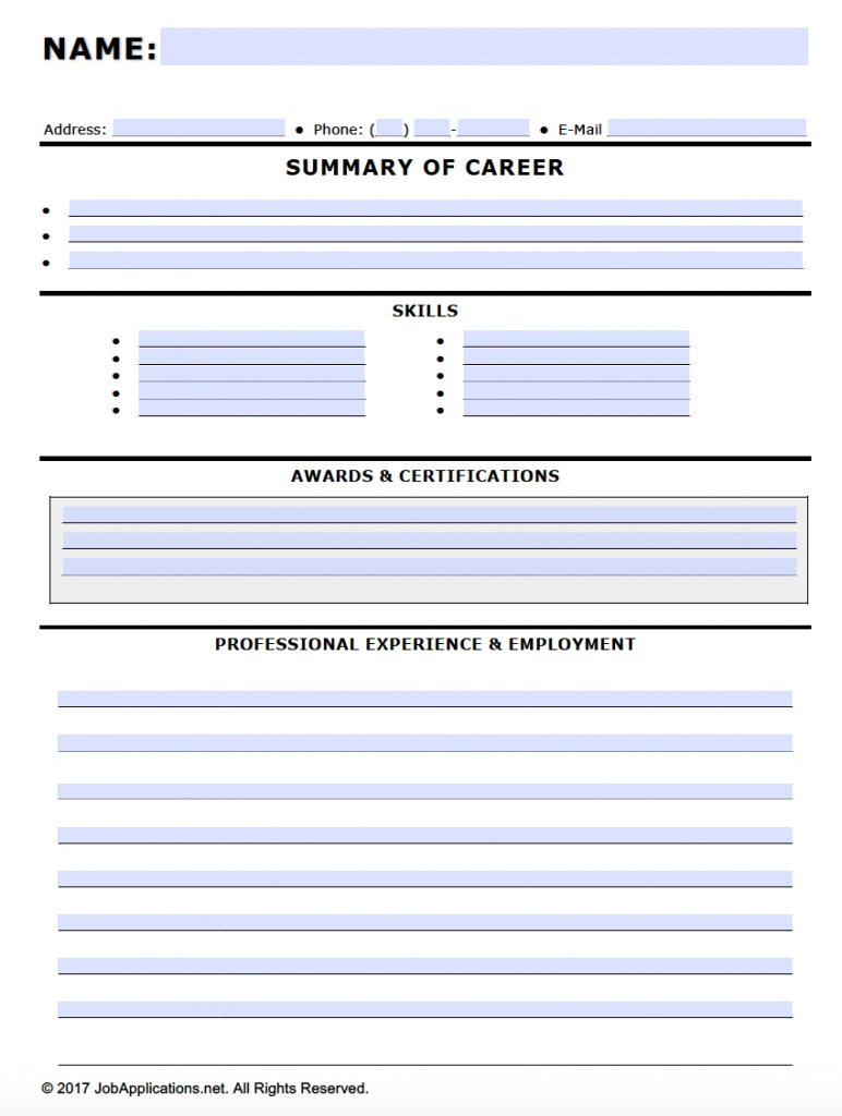 Free Fillable Job Application Forms In Adobe Pdf And Ms Word Koh