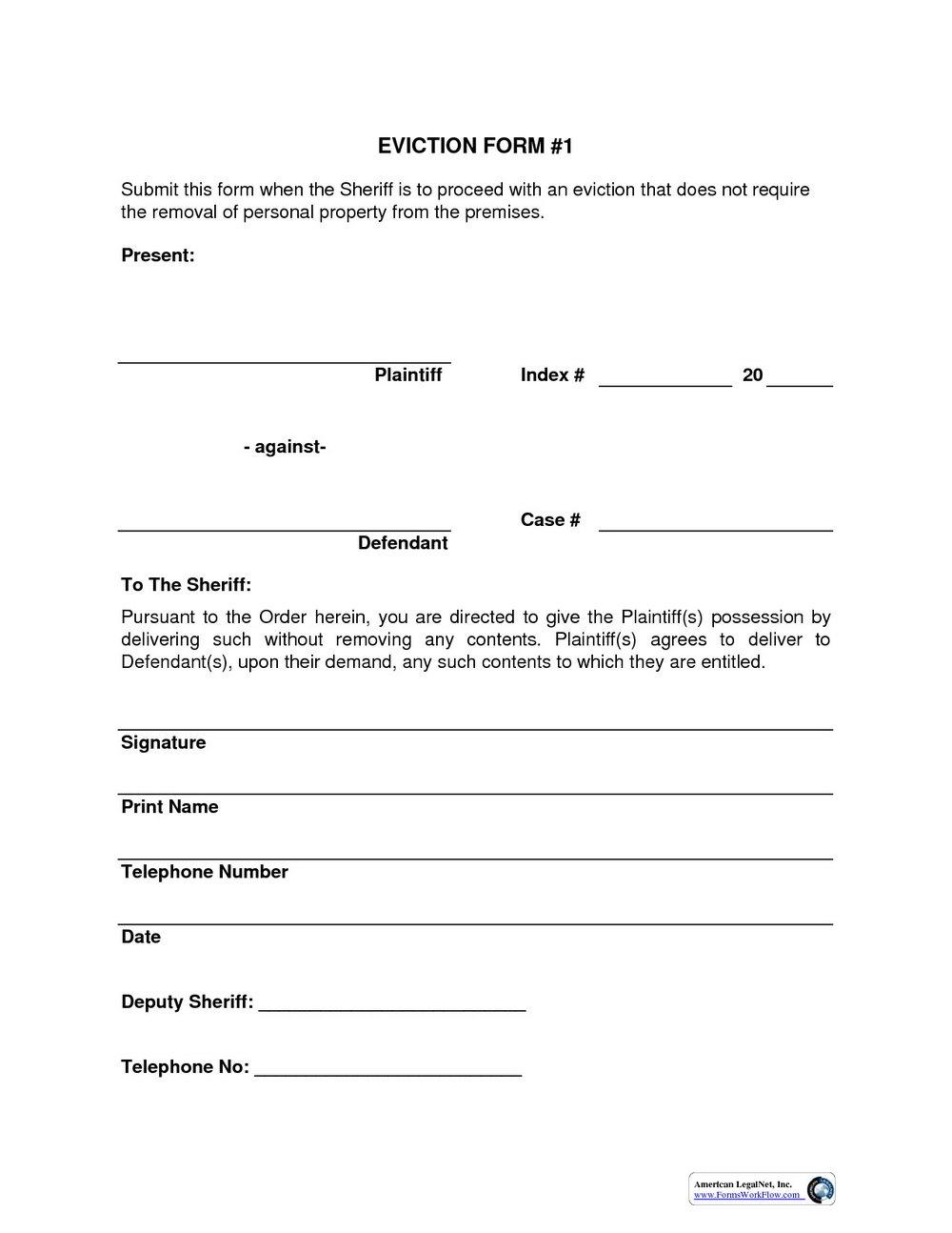 Eviction Notice Form Florida
