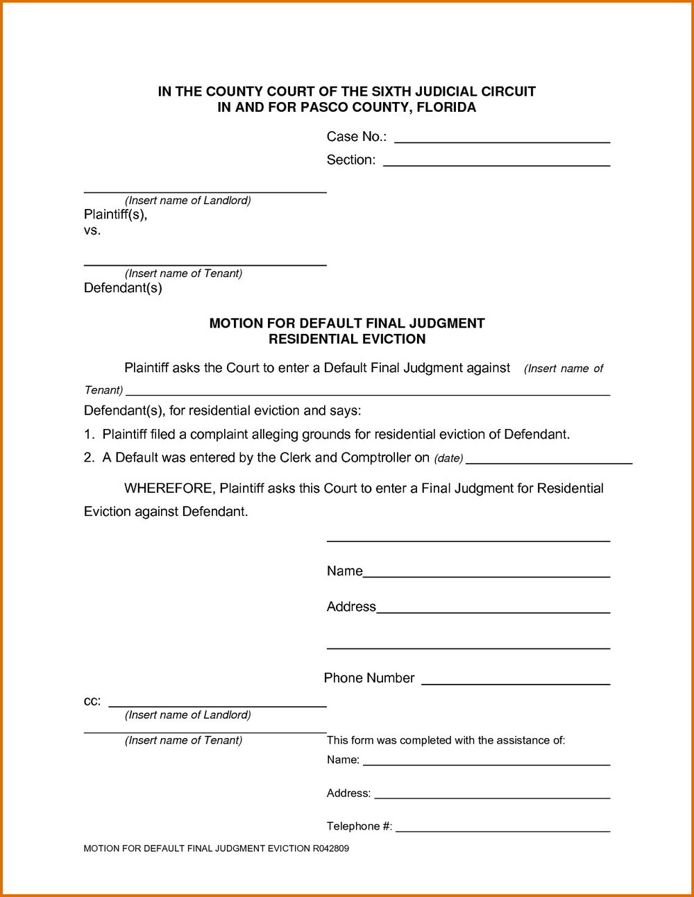 Eviction Notice Forms Free