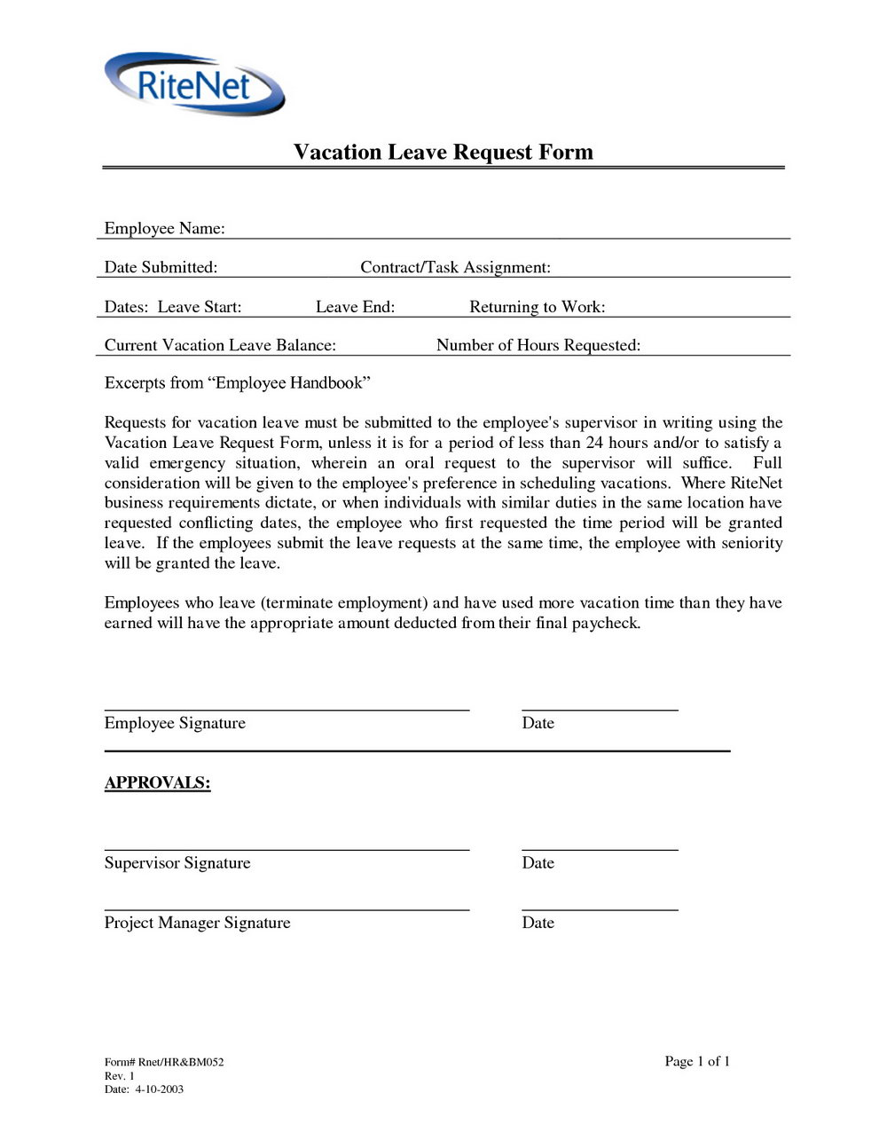 Fmla Printable Forms