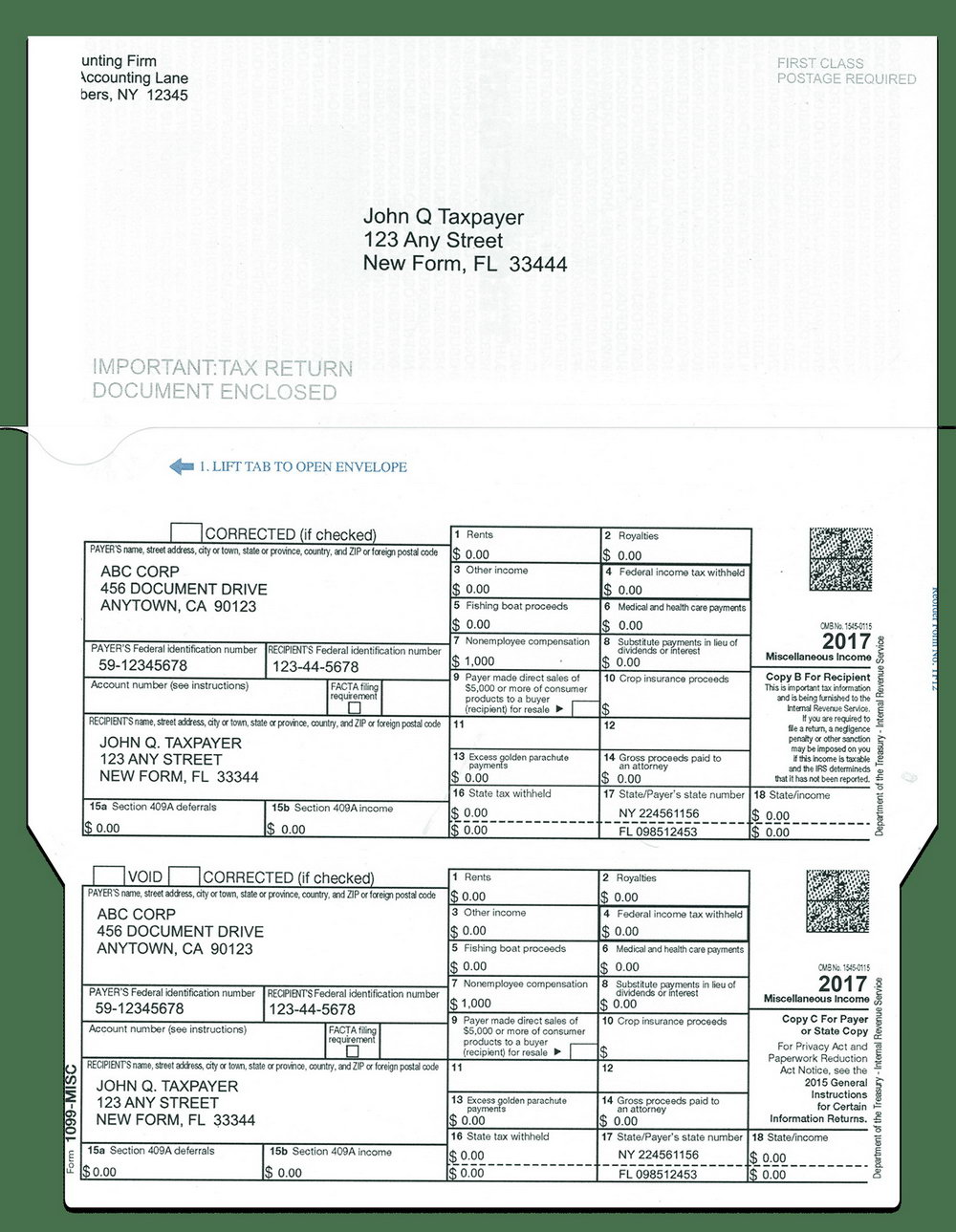 Form 1099 Misc Instructions