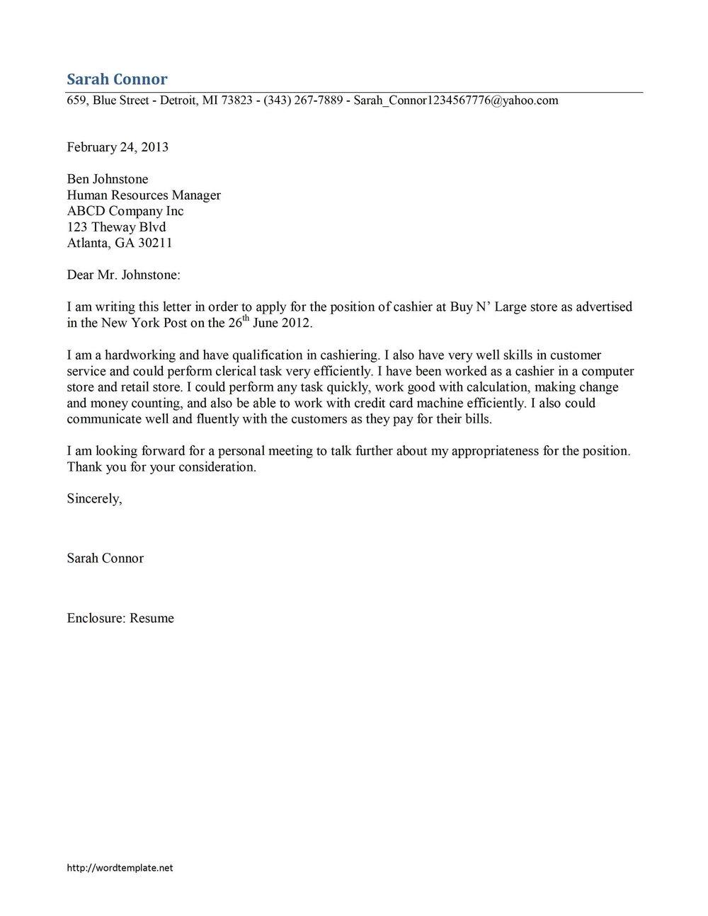Free Cover Letter Builder Download