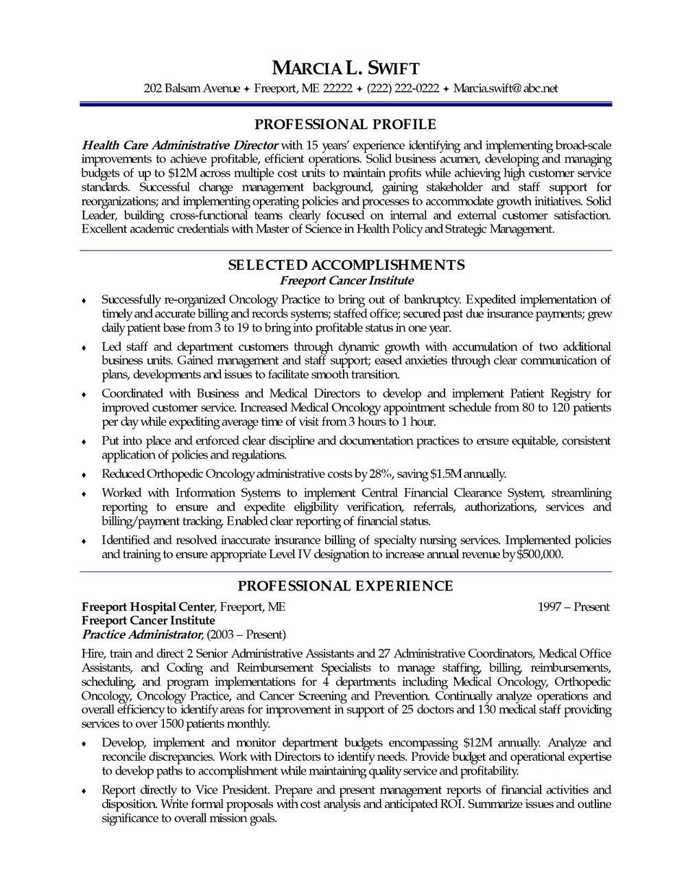 Free Download Sample Resume In Word Format