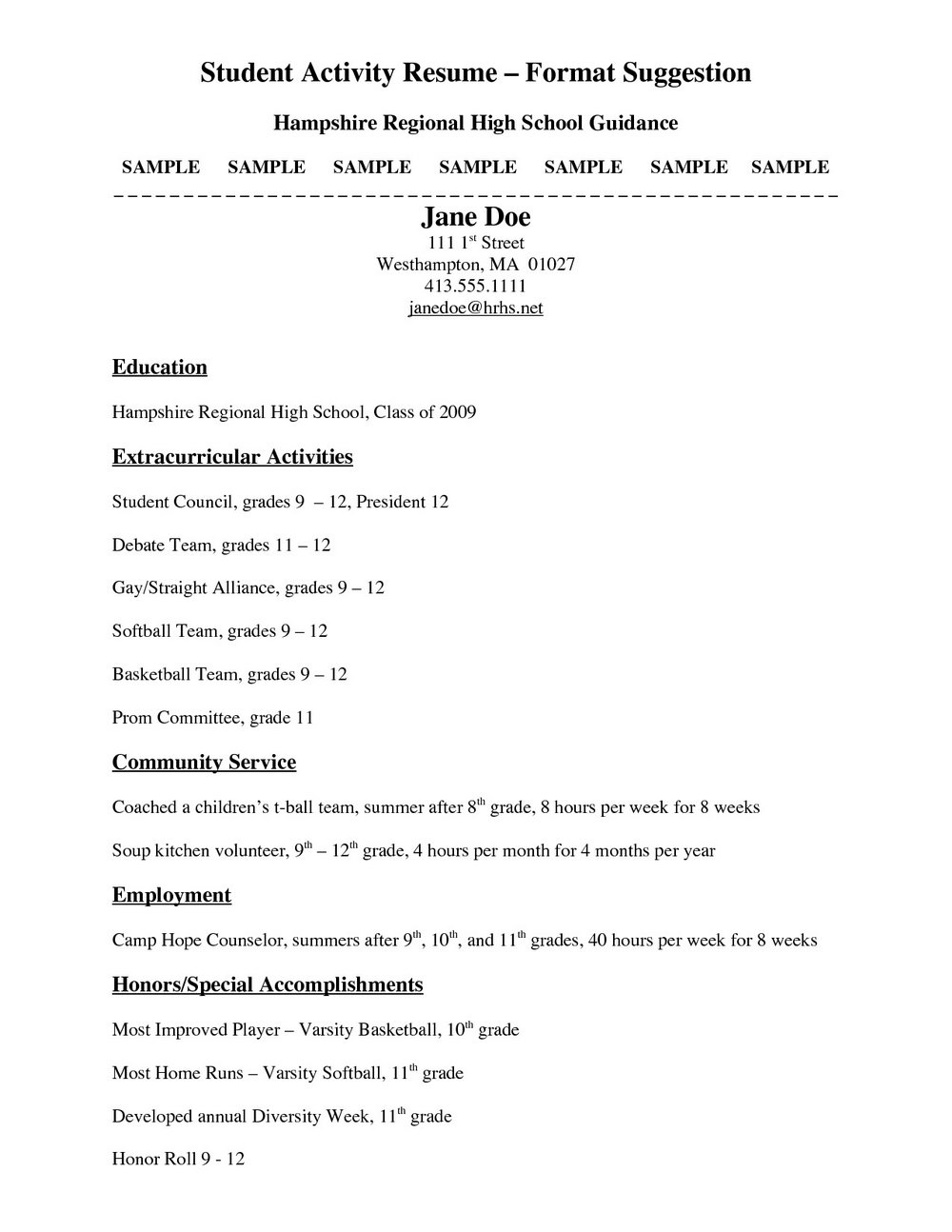 Free High School Resume Templates