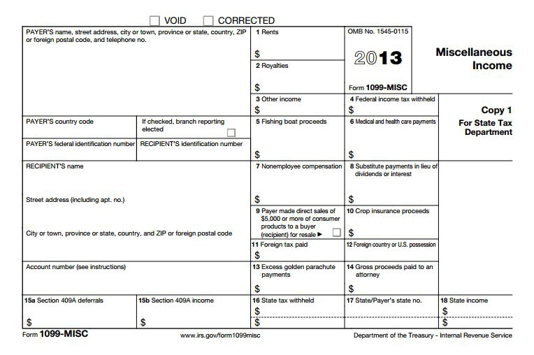 Irs 1099 Forms Instructions