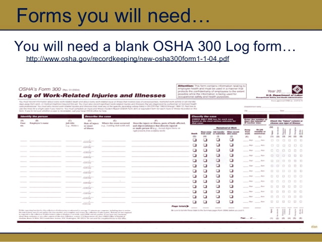 Osha 300a Form Requirements