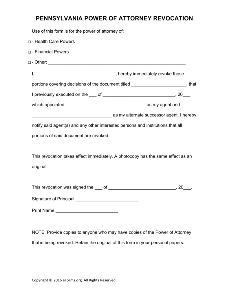 Power Of Attorney Form Pa Dmv