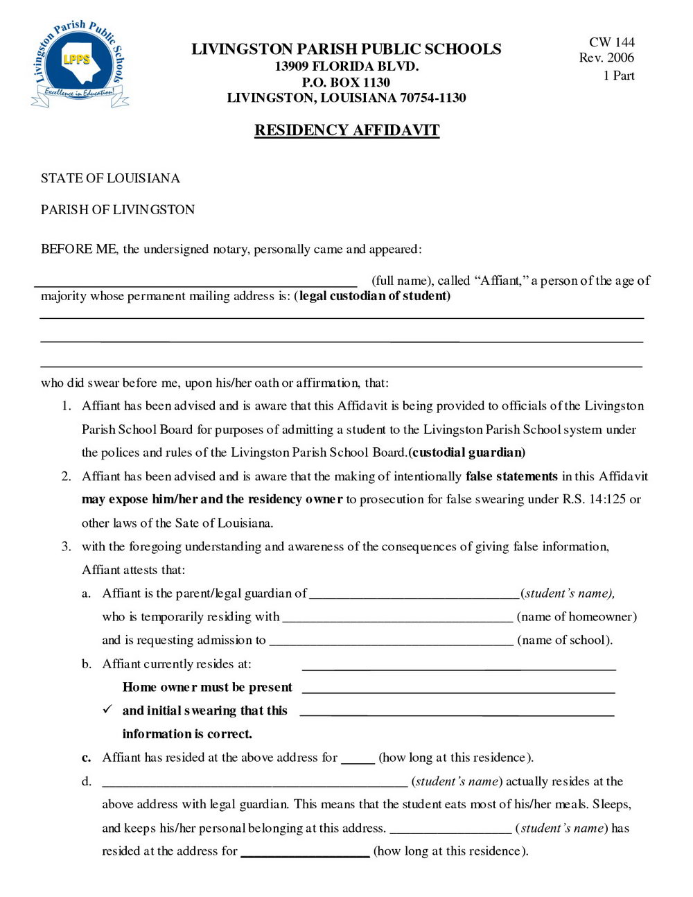 Temporary Guardianship Forms Missouri
