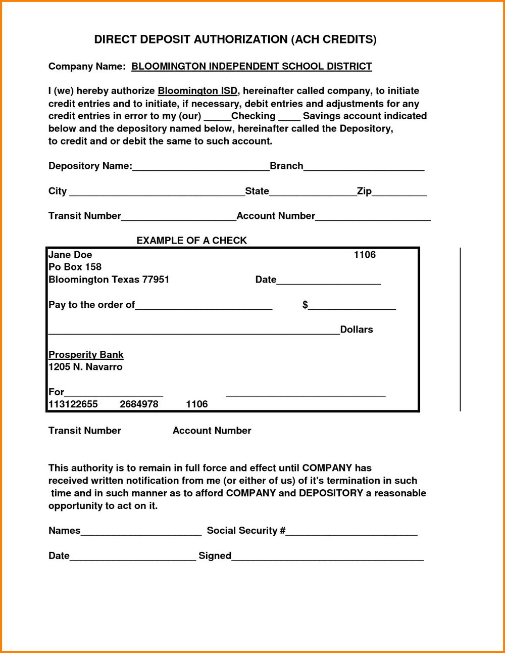 Ach Payment Form