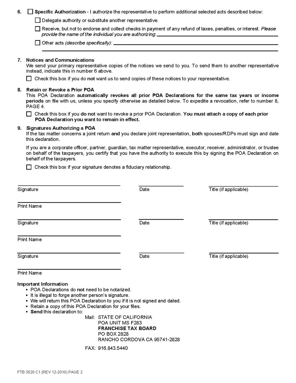 Durable Power Of Attorney California Form Pdf