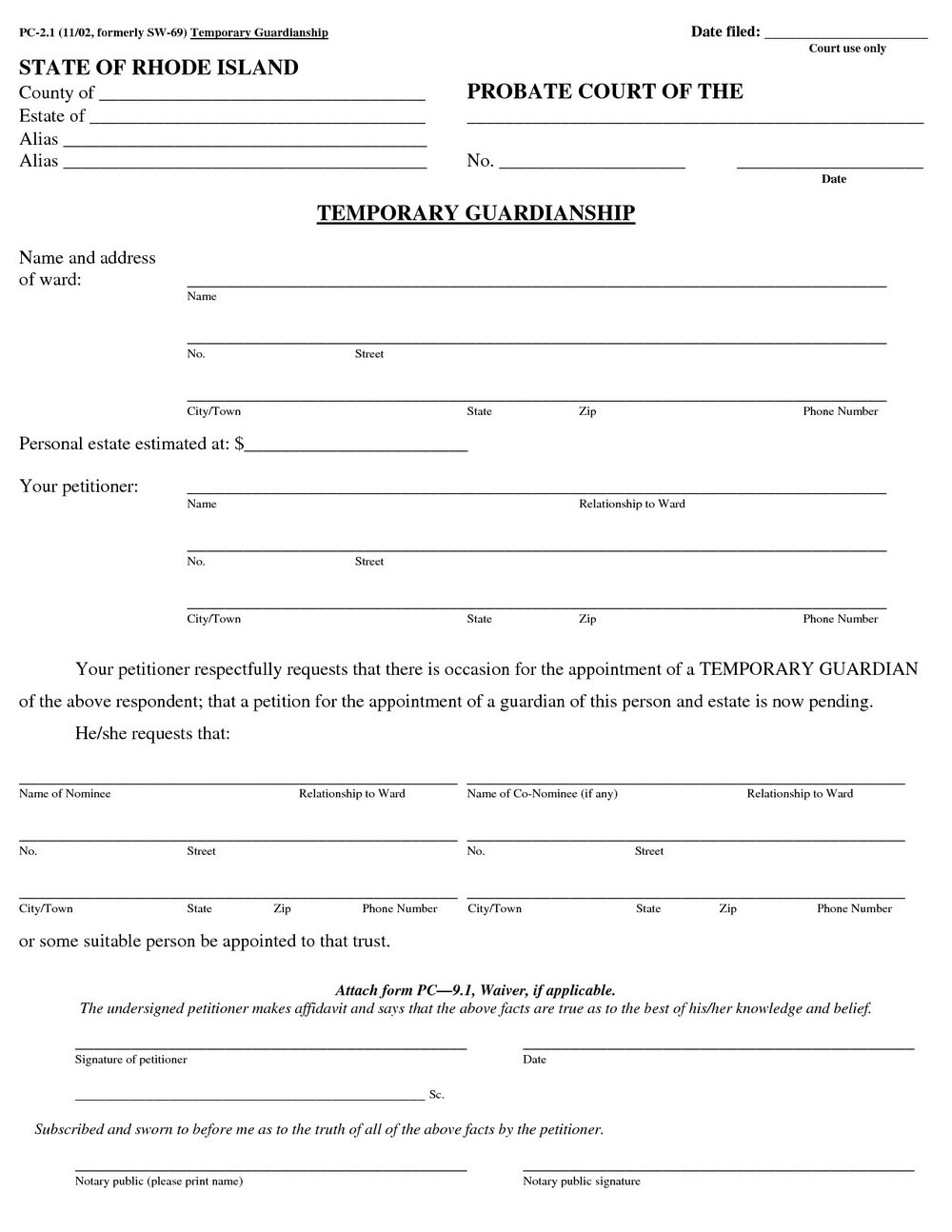 Free Printable Child Custody Forms
