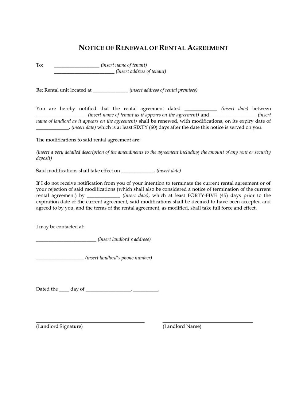 Lease Extension Form Wa