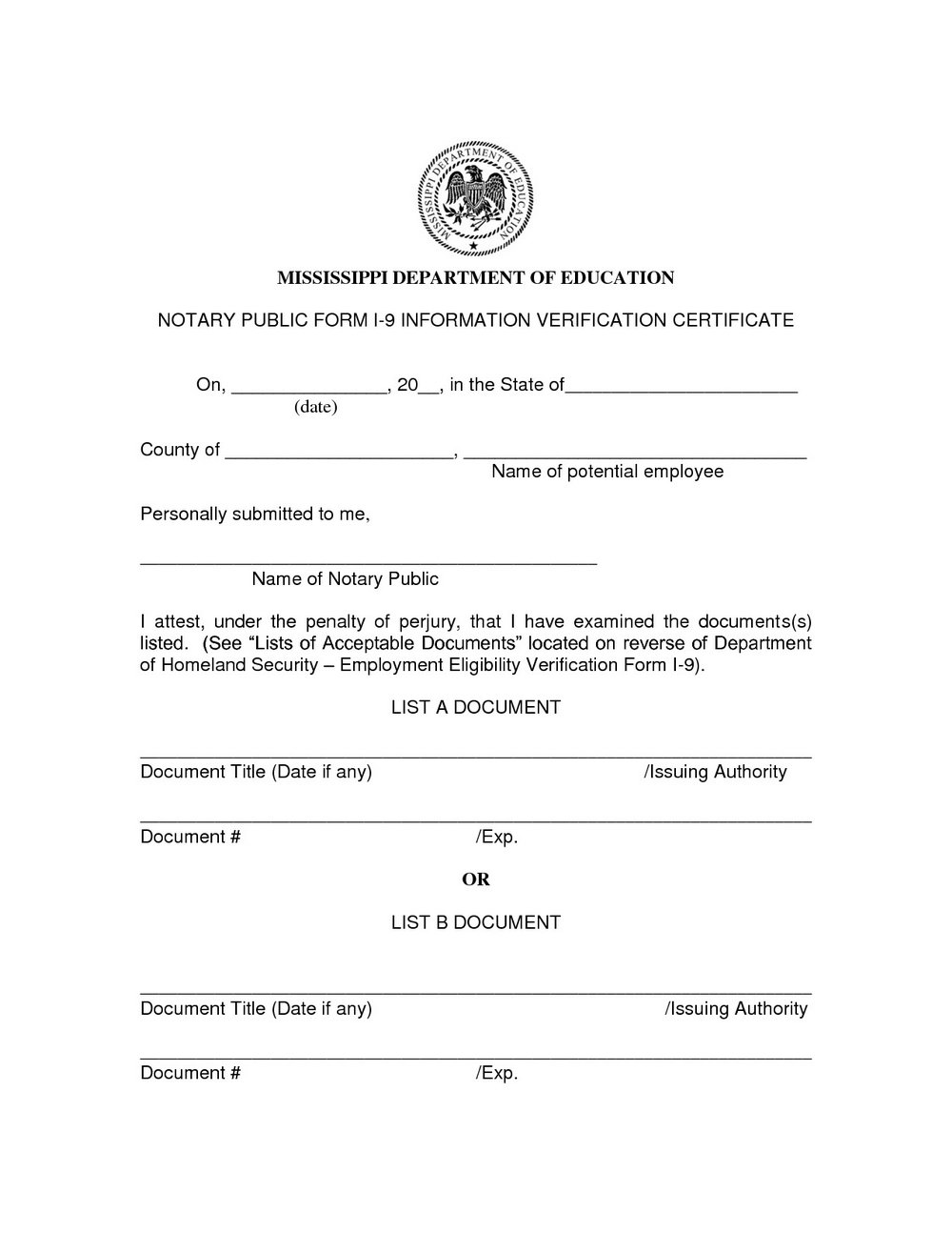 Notary Public Forms California