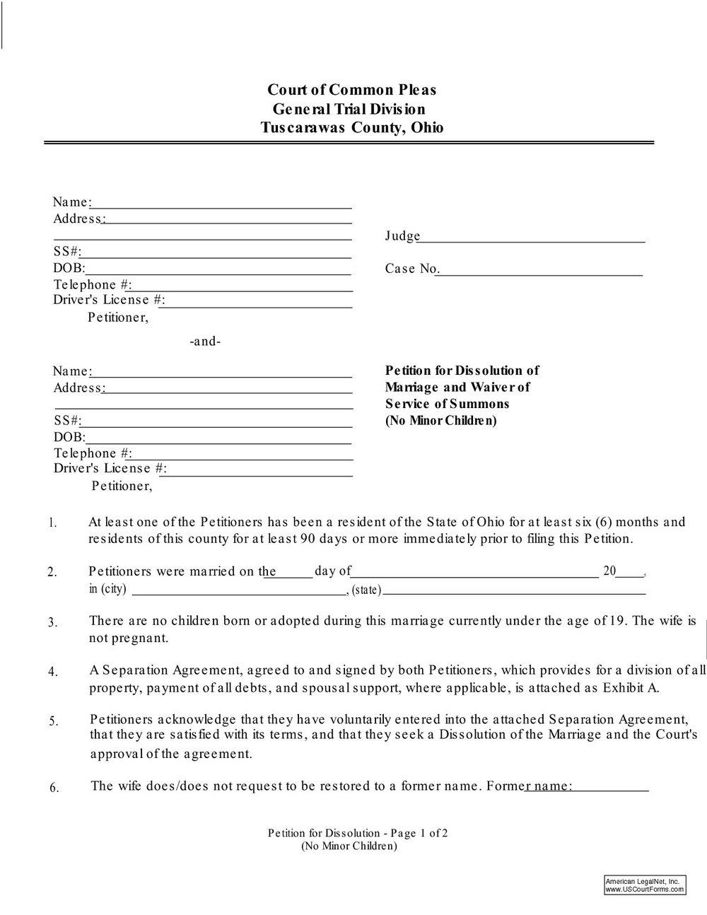 Ohio Dissolution Forms Pdf