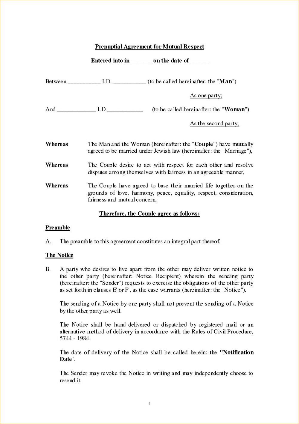 Postnuptial Agreement Form Georgia