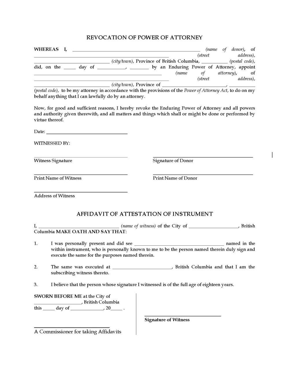 Power Of Attorney Form Oklahoma Child