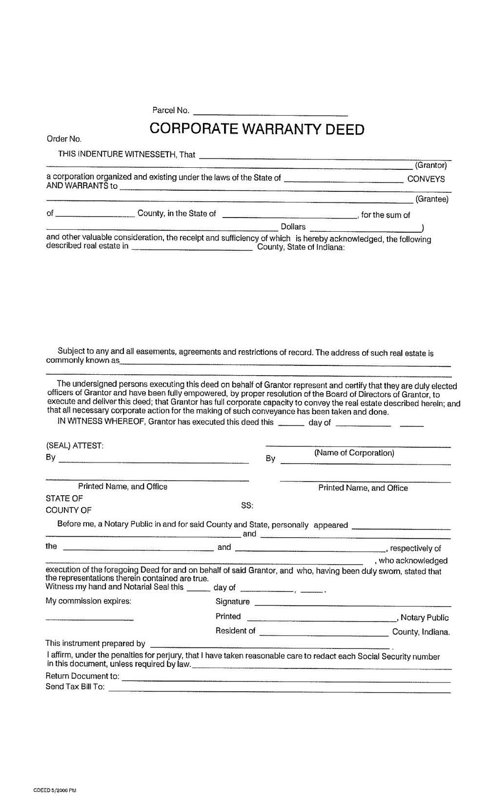 Texas Warranty Deed Form Free Download