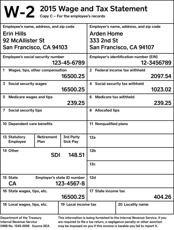 W2 Tax Forms Online