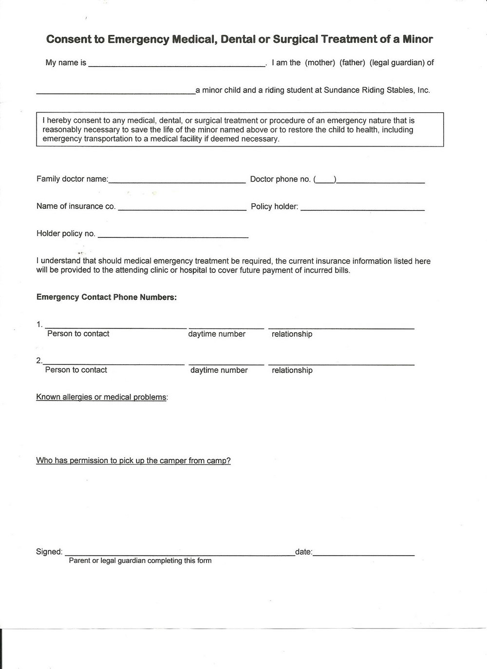 Workers Comp Waiver Form Minnesota