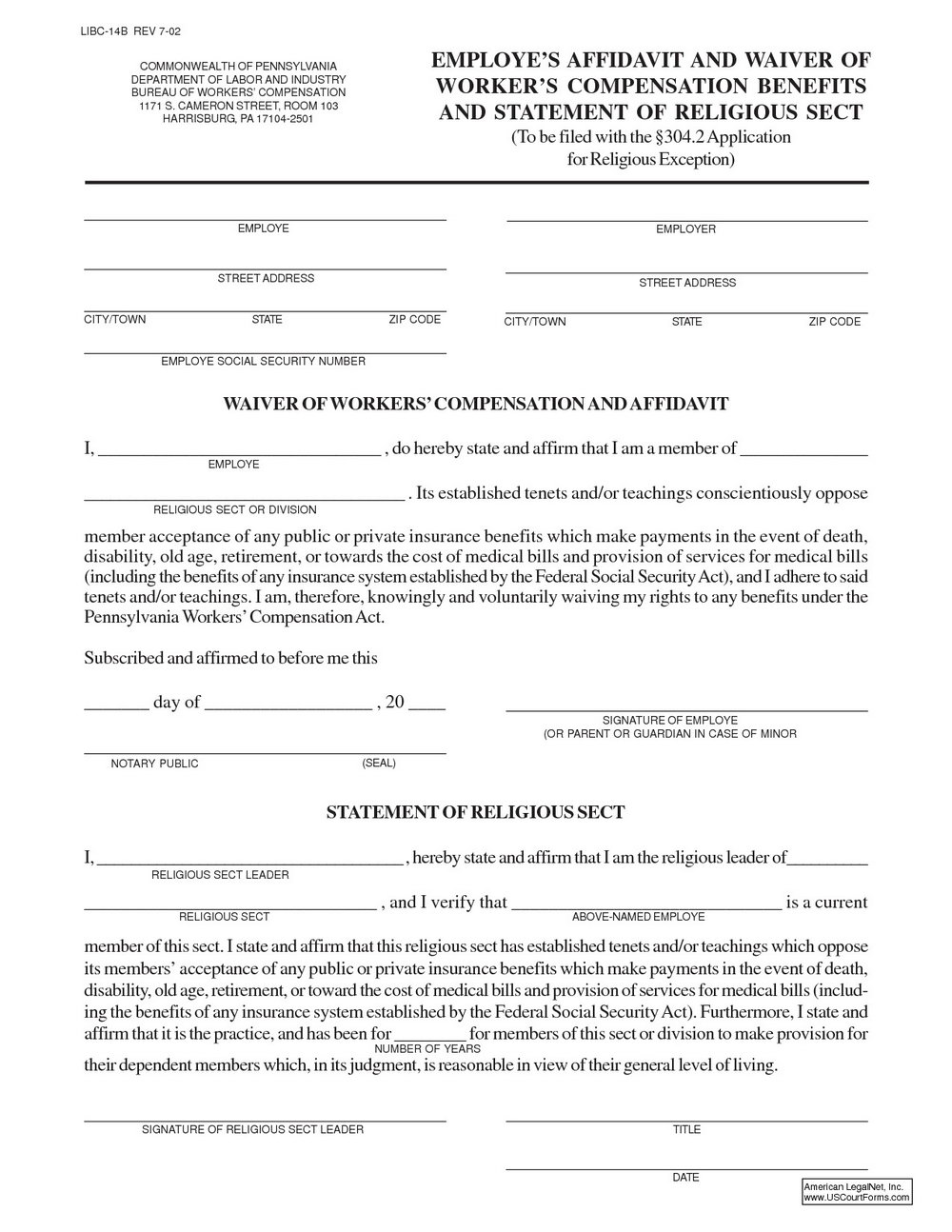 Workers Compensation Waiver Form For Independent Contractors Texas